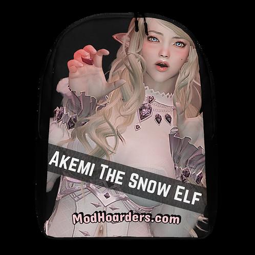Akemi The Snow Elf Minimalist Backpack Black