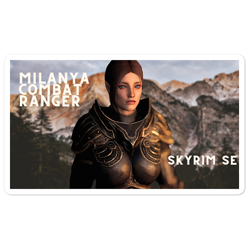 Milanya Follower Wood Elf Combat Ranger Bubble-free stickers