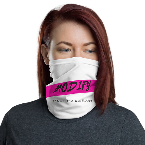 Modify Neck Gaiter White\Pink