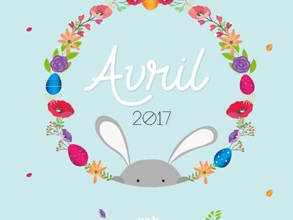 Calendrier d'avril : téléchargement gratuit