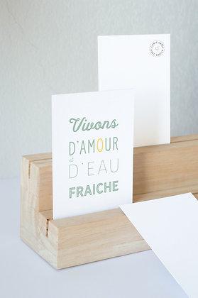"""""""Vivons d'amour & d'eau fraîche"""""""