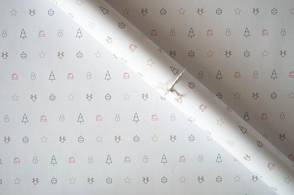 Papier cadeau motifs icônes