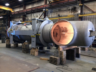 """Valtech Engineering builds (2) 60.0"""" hot wall flue expansion joints"""