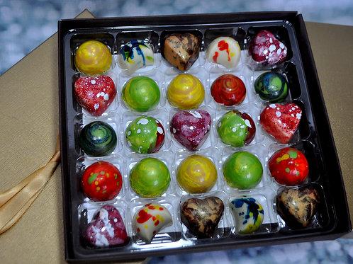 25 Box of Handmade ARTISAN chocolates - 10 flavours