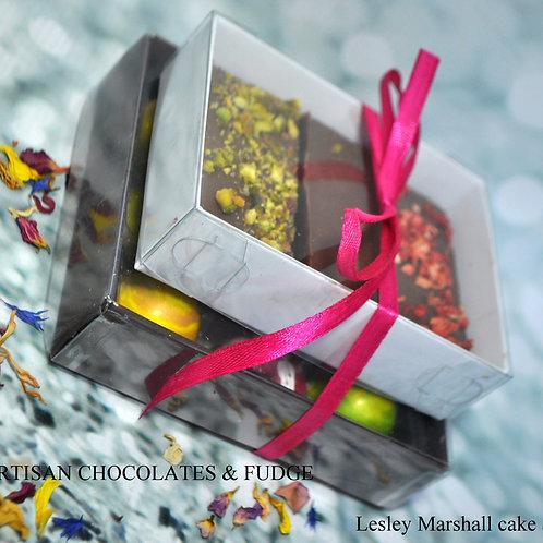 Artisan chocolates & fudge gift boxes