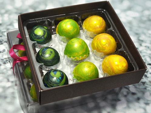 9 Handmade ARTISAN chocolates - MILK chocolate mix