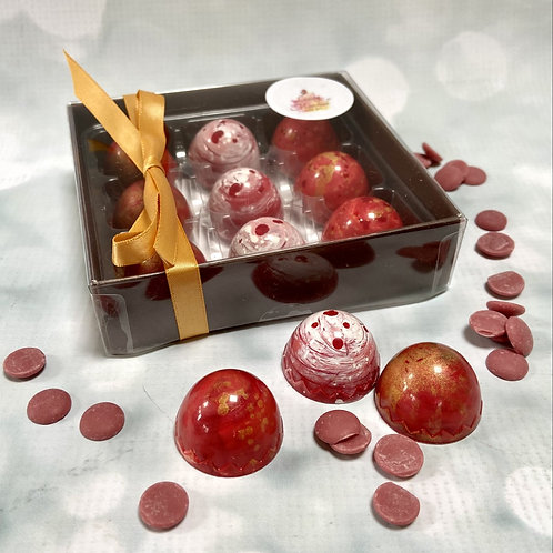RUBY CHOCOLATE ARTISAN chocolates - SELECT YOUR FLAVOURS