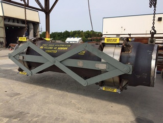 """Valtech Engineering builds 39.75"""" hot wall lined regenerated catalyst line expansion joint"""