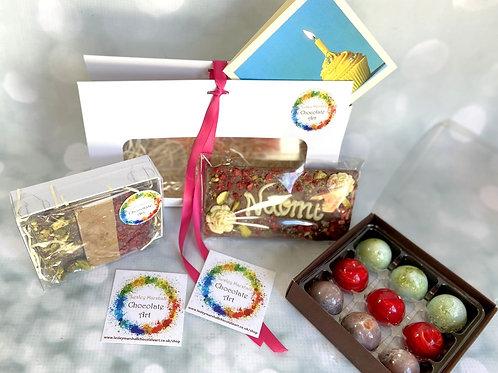 """VEGAN BIRTHDAY gift """"handbag"""" - Artisan chocolates & fudge"""