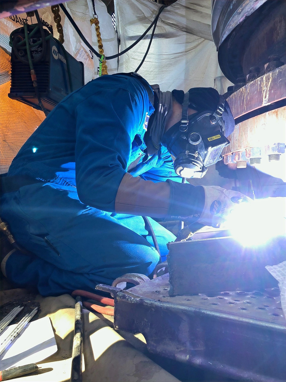Valtech Field Crew Welding In New Repair Bellows.