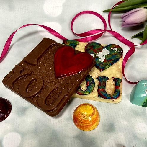 VEGAN/DAIRY FREE - I LOVE YOU chocolate Bar