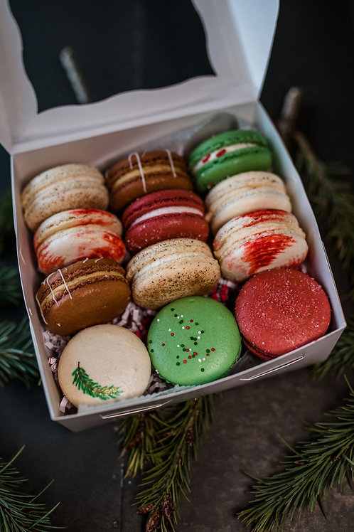 Christmas Macarons for Merry Makers Market 12.5.20