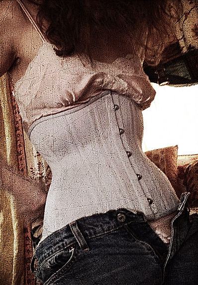 medical corset model - Enchanted Custom Corsets