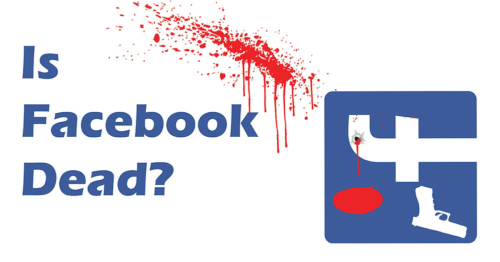 Facebook icon with self-inflicted gunshot wound