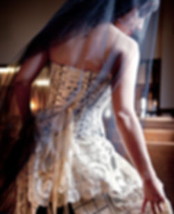 Custom corseted wedding gown by Enchanted Custom Corsets