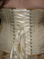 Close up of Enchanted Custom Corset lacing