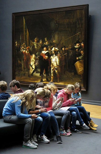 photo of Rembrandt's Night Watch, Rijksmuseum, Amsterdam. Photograph by Gijsbert van der Wal
