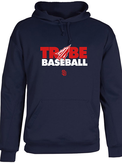 Tribe Baseball Cotton Hoodie - NAVY