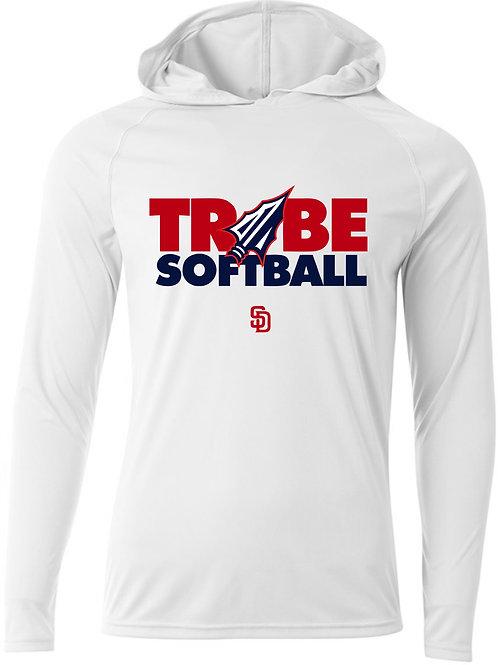 Hooded T-Shirt Long Sleeve - WHITE