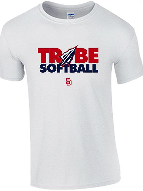 Tribe Softball Performance T-Shirt - WHITE