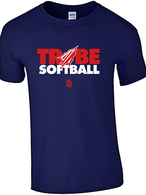 Tribe Softball  Cotton T-Shirt - NAVY