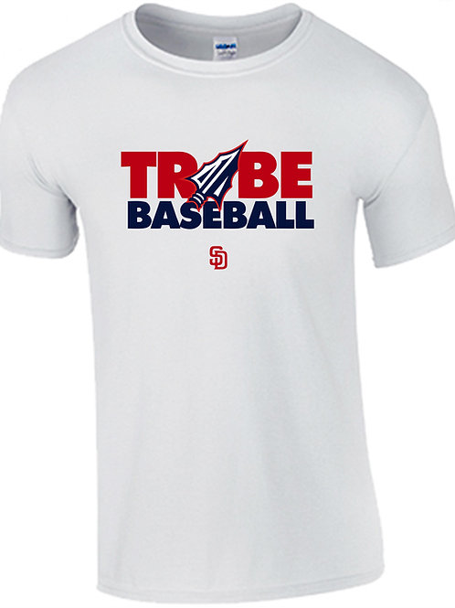 Tribe Baseball Performance T-Shirt - WHITE