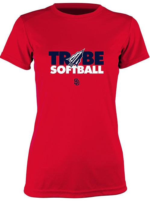 Tribe Softball Performance T-Shirt -RED