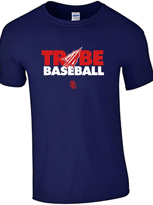 Tribe Baseball Performance T-Shirt - NAVY