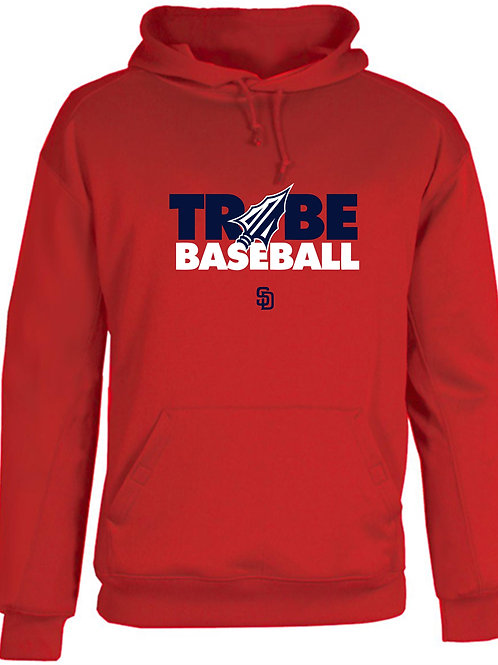 Tribe Baseball Cotton Hoodie - Red