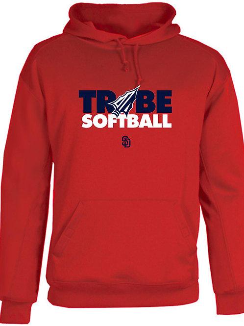 Tribe Softball Cotton Hoodie - RED