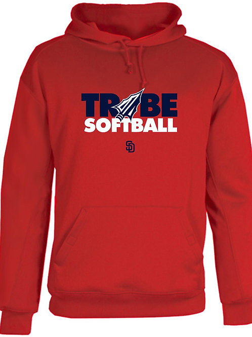 Tribe Softball Performance Hoodie -RED