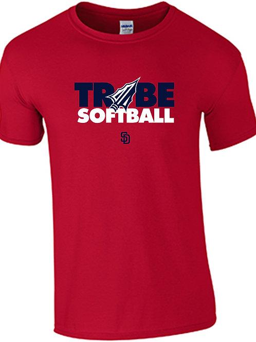 Tribe Softball  Cotton T-Shirt - RED