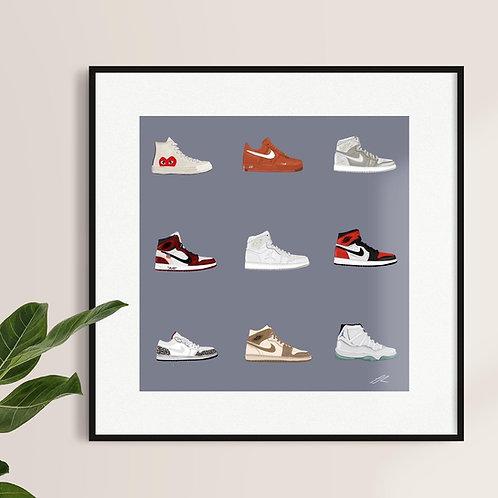 Shoe Wall Print