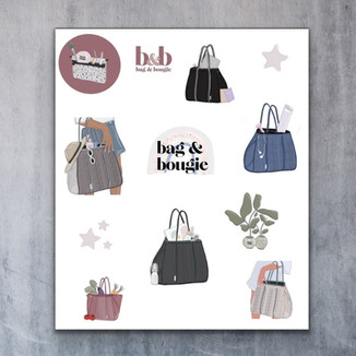 Branded Stickers for Bag & Bougie