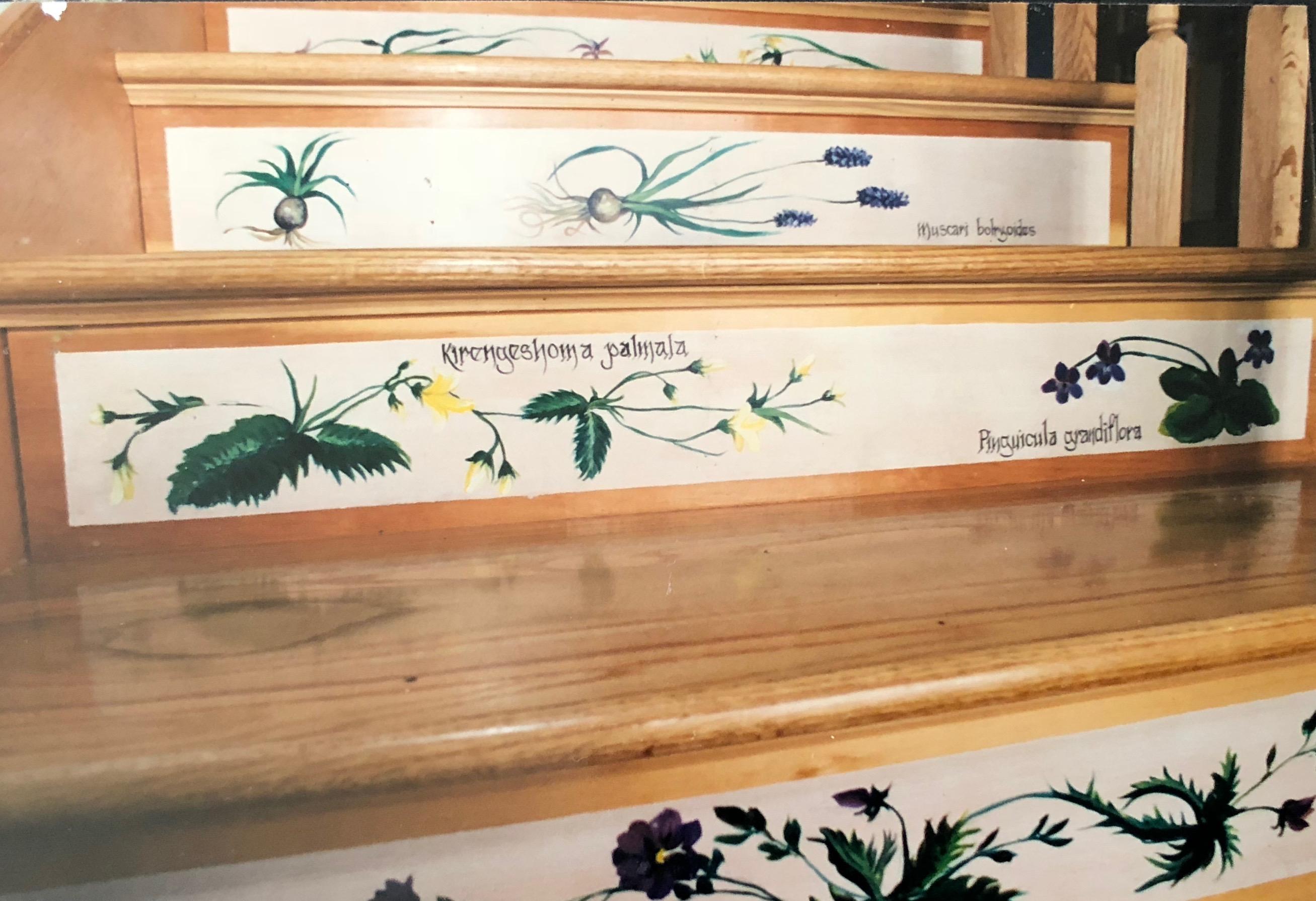 paintedsurfacesflowerstairs