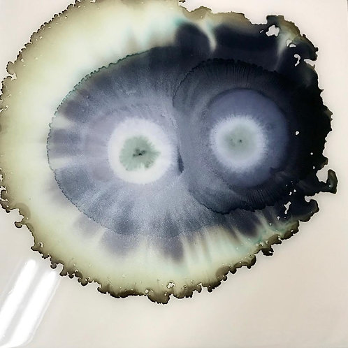 Gray and Black Geode