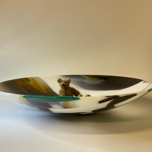 'touch of spring' glass bowl