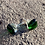 Thumbnail: Unique glass studs, green and clear
