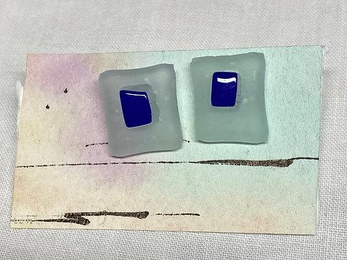 white/blue glass studs