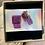 Thumbnail: Unique glass studs, light violet/pink