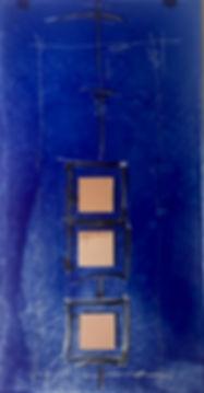 blue mirror, glass square