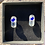 Thumbnail: Unique glass studs, clear and blue