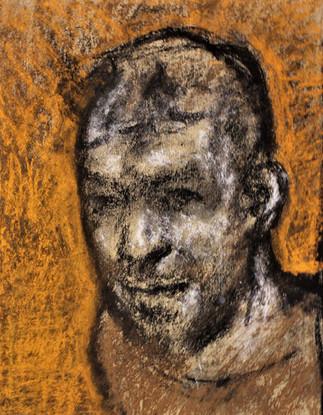 """Портрет А. Митина"". Бумага, пастель. 40х30. 1988."