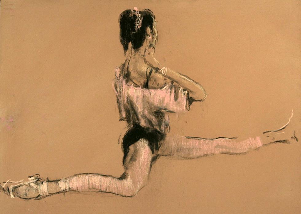 """""""Даша"""". Холст, пастель. 60х80. 2005."""