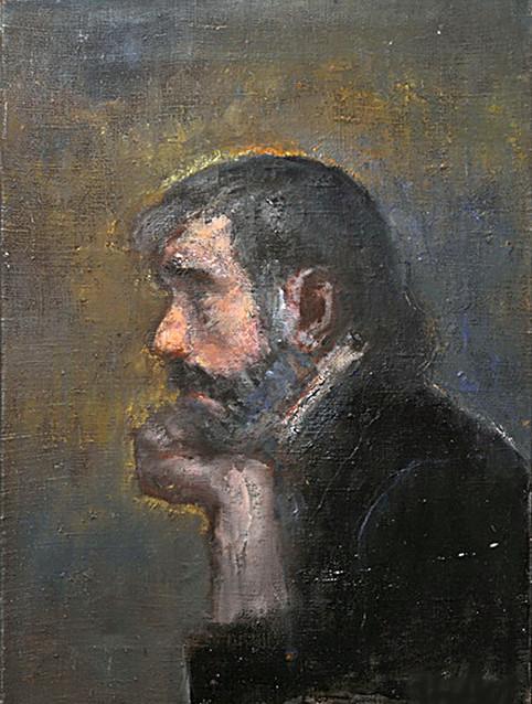 """Отец Андрей"". 70Х50. Холст, масло. 2007."