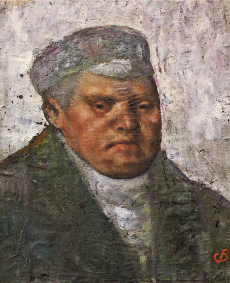 """Портрет неизвестного"". 47Х39. Холст, масло, темпера. 1978."