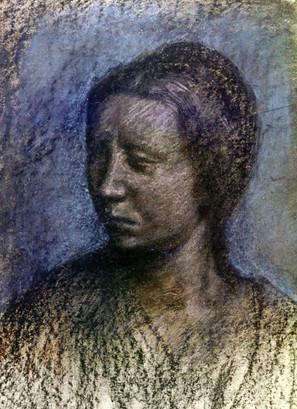 """""""Портрет в стиле Ренессанса"""". Бумага, пастель. 60х50. 1997."""