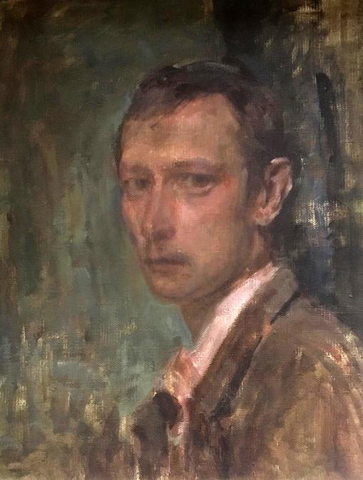 """Автопортрет"". 60Х50. Холст, масло. 1995."