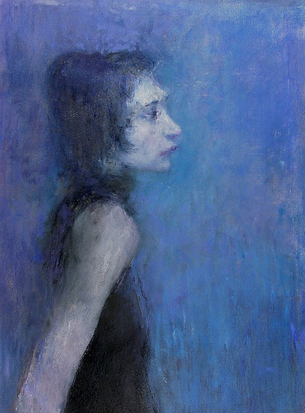 """Портрет Екатерины Кандауровой"". 90Х60. Холст, масло. 2005."