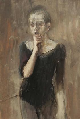 """Маленькая балерина"". Бумага, темпера, пастель. 70х50. 2015."